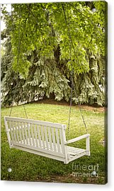 White Swing In The Green Acrylic Print by James BO  Insogna