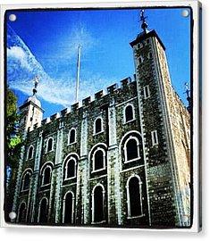 White Tower #toweroflondon #london Acrylic Print