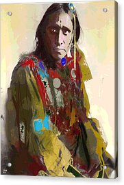 White War Bonnet Acrylic Print by Charles Shoup