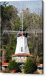 Acrylic Print featuring the photograph White Windmill by Susan Leggett