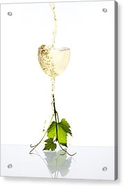 White Wine Acrylic Print by Floriana Barbu