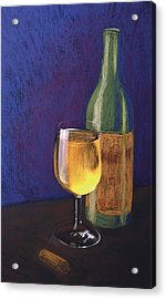White Wine Acrylic Print by Garry McMichael