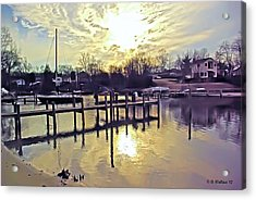 White's Cove In Winter Acrylic Print by Brian Wallace