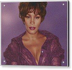Whitney Houston Song Bird No. 4 Acrylic Print by De Beall