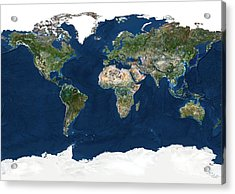 Whole Earth, Satellite Image Acrylic Print by Planetobserver