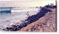 Why We Surf Acrylic Print by Ron Regalado