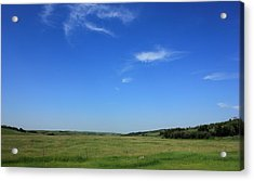 Wide Open Alberta Prairies Acrylic Print by Jim Sauchyn