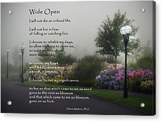 Wide Open Acrylic Print