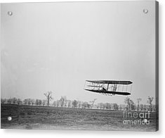 Wilbur Wright Piloting Wright Flyer II Acrylic Print by Science Source