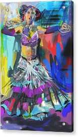 Wild Belly Dancer Acrylic Print by Barbara Kelley