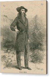 Wild Bill Hickok 1837-1876, Portrait Acrylic Print by Everett