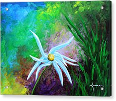 Acrylic Print featuring the painting Wild Daisy 2 by Kume Bryant