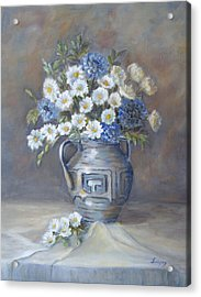 Acrylic Print featuring the painting Wild Flowers by Katalin Luczay