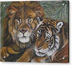 Wild Friends Acrylic Print by Kim Selig