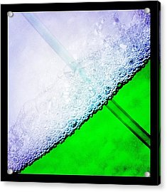 Wild Green Fiendy Liquid Acrylic Print