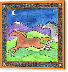 Wild Horses Acrylic Print by Pamela  Corwin