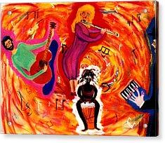 Wild Music Acrylic Print by Eliezer Sobel