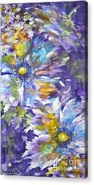Acrylic Print featuring the painting Wild Purple Roses by Kathleen Pio