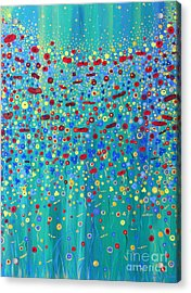 Acrylic Print featuring the painting Wildflower Symphony by Stacey Zimmerman