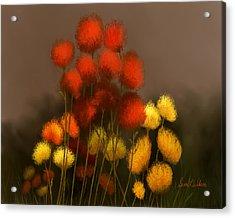 Wildflowers In Symphony Acrylic Print