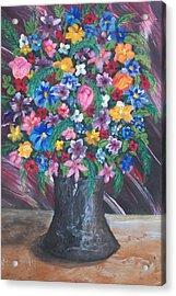 Wildflowers Acrylic Print by Jeanette Stewart