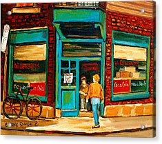 Wilensky's Restaurant Acrylic Print by Carole Spandau