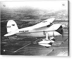 Wiley Posts Plane Winnie Mae Overhauled Acrylic Print by Everett