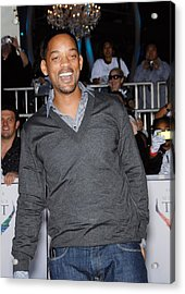 Will Smith At Arrivals For Michael Acrylic Print