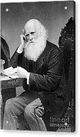 William Cullen Bryant, American Poet Acrylic Print by Photo Researchers