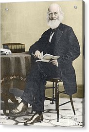 William Cullen Bryant, American Poet Acrylic Print by Science Source