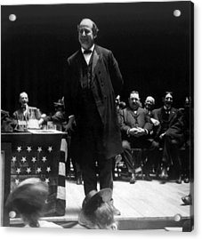 William Jennings Bryan Delivering Acrylic Print by Everett