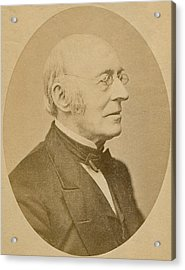 William Lloyd Garrison 1805-1879 Acrylic Print by Everett