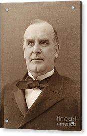 William Mckinley (1843-1901). 25th President Of The United States. Photographed In 1896 Acrylic Print by Granger