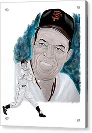 Willie Mays Acrylic Print by Steve Ramer