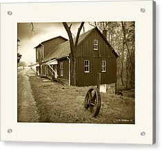 Williston Mill - Sepia Acrylic Print by Brian Wallace