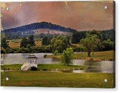 Willow Lake Series II  Acrylic Print by Kathy Jennings