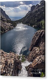 Willow Lake Waterfall Acrylic Print by Scotts Scapes