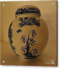 Willow Tea Jar Acrylic Print by Patricia Januszkiewicz