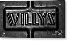 Willys Emblem Acrylic Print by Juls Adams