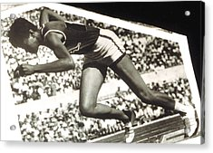 Wilma Rudolph, Winner Of 3 Gold Medals Acrylic Print by Everett