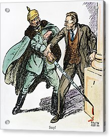 Wilson & The Kaiser: Acrylic Print by Granger