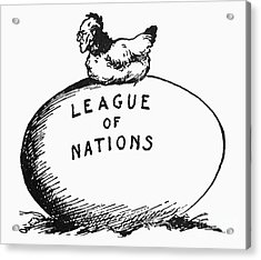 Wilson: League Of Nations Acrylic Print by Granger