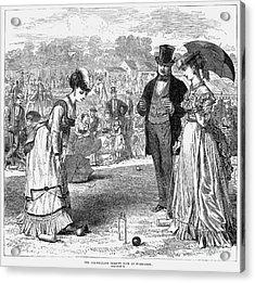 Wimbledon: Croquet, 1870 Acrylic Print by Granger