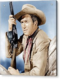 Winchester 73, James Stewart, 1950 Acrylic Print by Everett