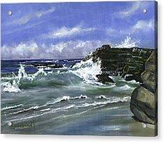Wind And Sea II Acrylic Print by Lisa Reinhardt