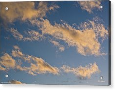 Wind Driven Clouds Acrylic Print by Mick Anderson
