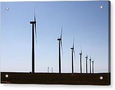 Wind Farm Acrylic Print by Leroy McLaughlin