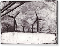 Wind Farming Acrylic Print by Taylor Lee Bisbee