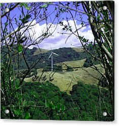 Wind Power Acrylic Print by Bonnie Muir