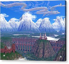 Wind Serpent Acrylic Print by Diana Morningstar
